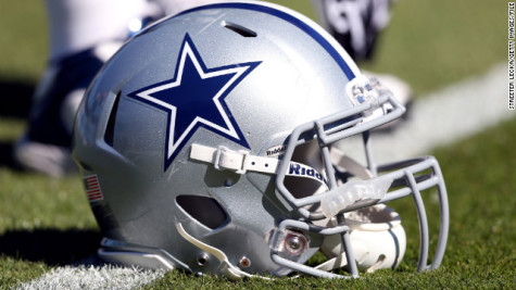 The Blue and Silver Helmet worn by the Dallas Cowboys