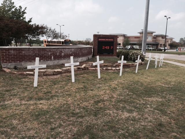 Crosses represent each member of the Living Dead.