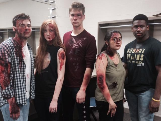 Shattered Dreams Cast prepares to take the stage for the live crash scene.