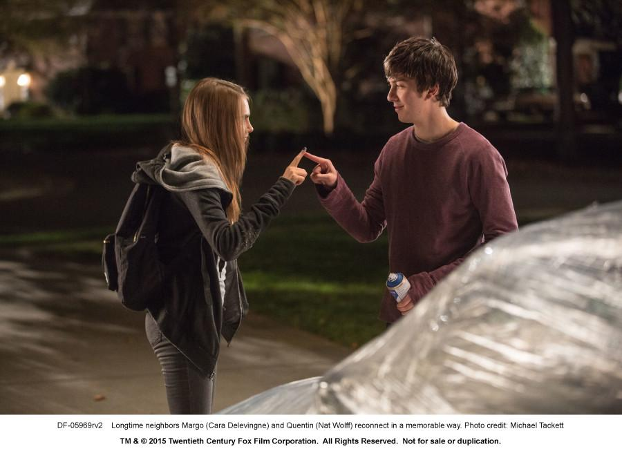 DF-05969rv2 Longtime neighbors Margo (Cara Delevingne) and Quentin (Nat Wolff) reconnect in a memorable way. Photo credit: Michael Tackett