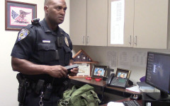 Officer Jones with his go bag.