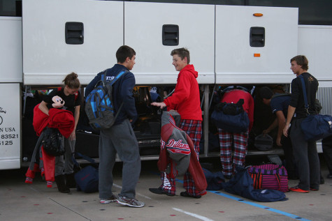 Centennial Band returns home from State. (Photo By Emma Bittner)