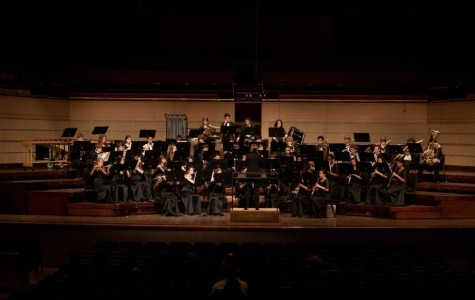 The Centennial Wind Symphony performs at the Meyerson Symphony Center.