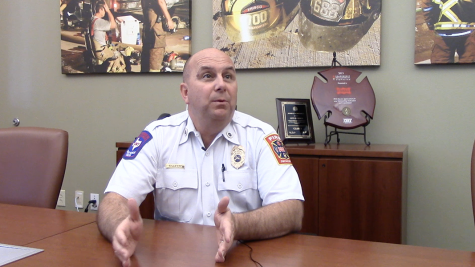 Chief Gillette explains his position at the Fire Station