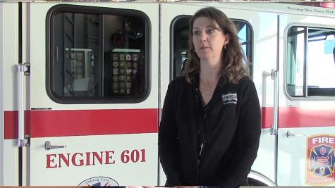 Mrs. Trammel explains her many duties as a Fire Station Coordinator