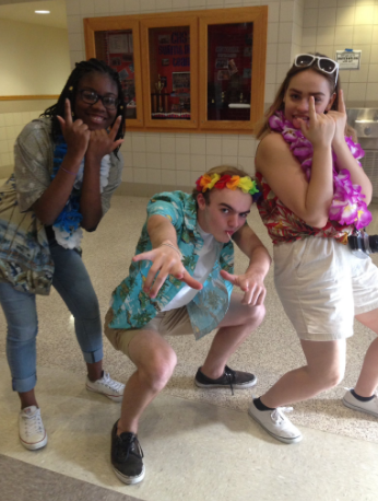 Students embrace their tacky side