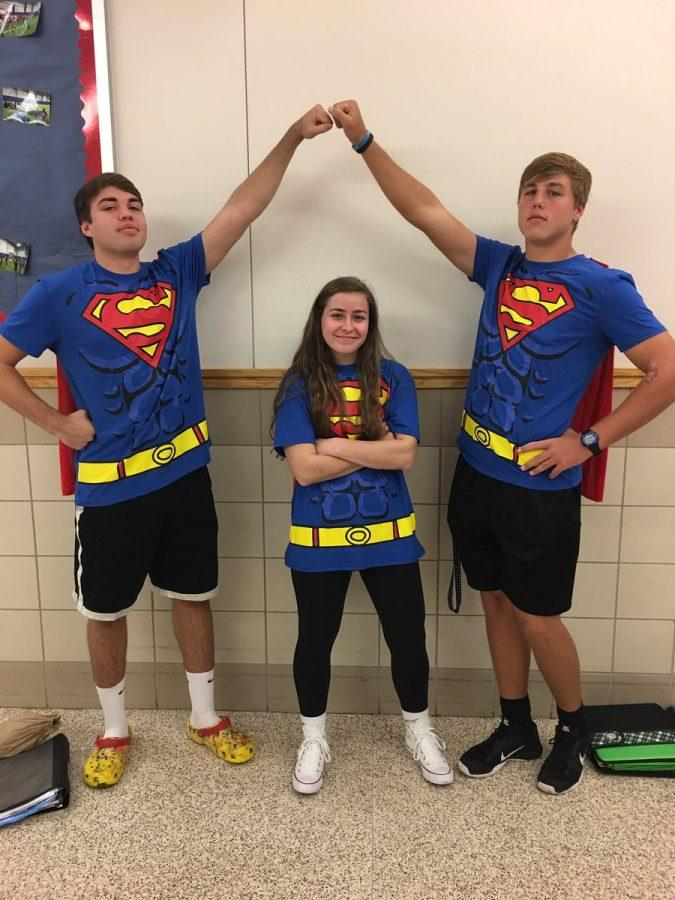 Students dressed as Superman