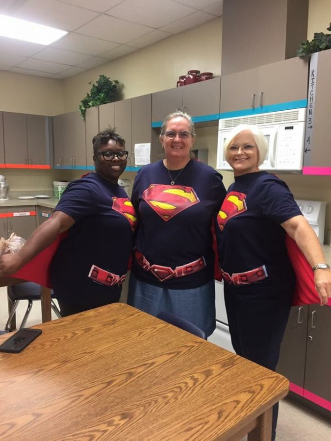 Teachers show their Titan Spirit by dressing up as Superman