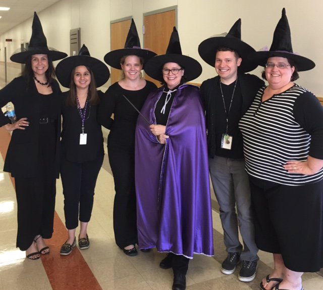 The LOTE Department grouped up as the ultimate coven.