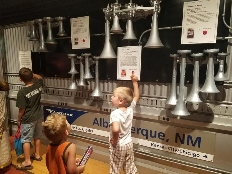 Children exploring the exhibit.