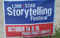 Sign for the Lone Star Storytelling Festival (Photo By: Laura Nicolescu)
