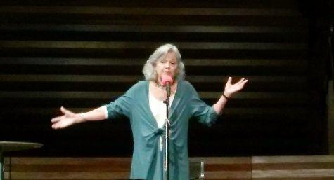 Storyteller Barbara McBride-Smith performing. Photo by Laura Nicolescu.