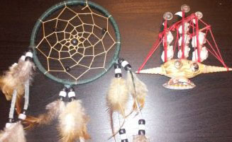 The dreamcatcher, a characteristic of the Native American culture, is defenseless toward ships of white men that sought to kill anyone who isn't like them. Photo by Laura Nicolescu.