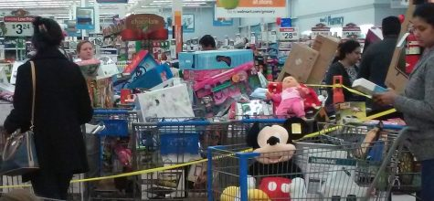 Shoppers swarm Walmart.