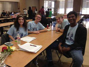Social Studies Team Left to Right: Priscilla Villalobos, Ben Whisman Chris Green, Adrian Jeyakumar