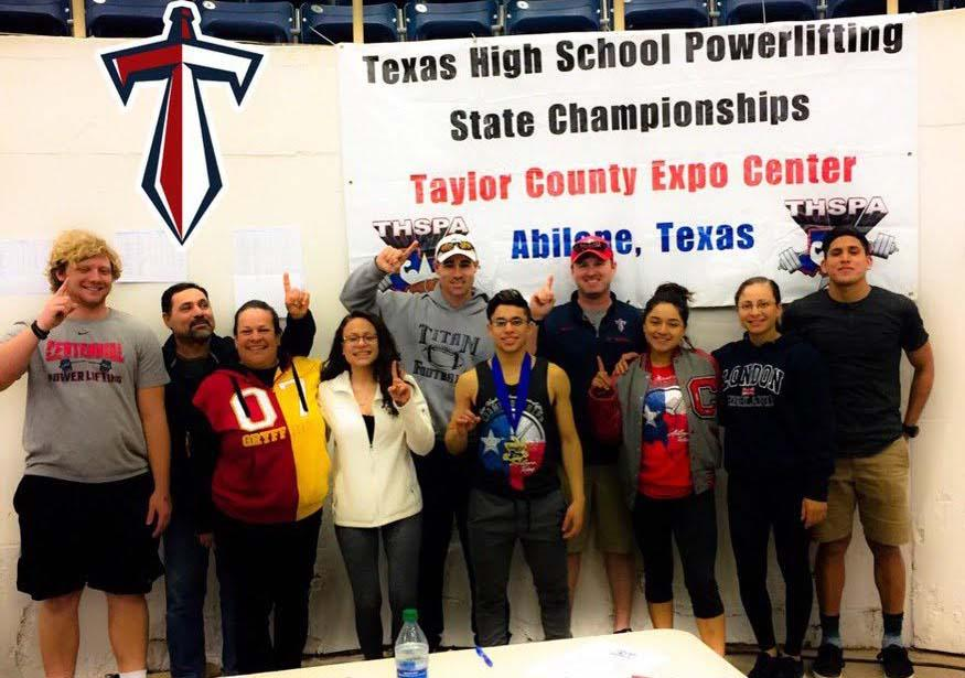 The+Centennial+Powerlifting+team.+Photo+courtesy+of+Coach+Merchant.+