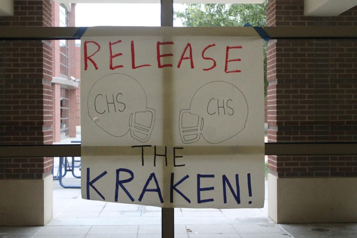 Posters exhibiting spirit around the school.