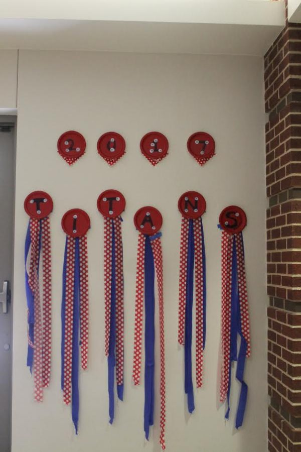 Homecoming Decorations around CHS.